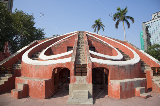 Jantra Mantra astronomical park, New Delhi, India