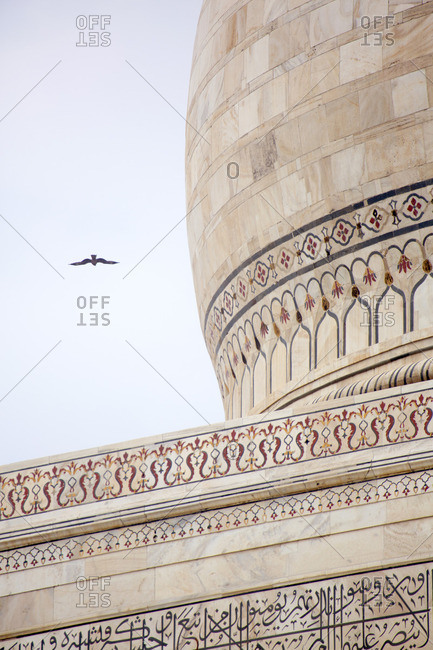 Close up of Taj Mahal dome