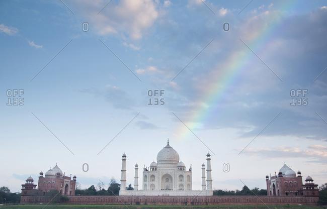 Rainbow over the Taj Mahal