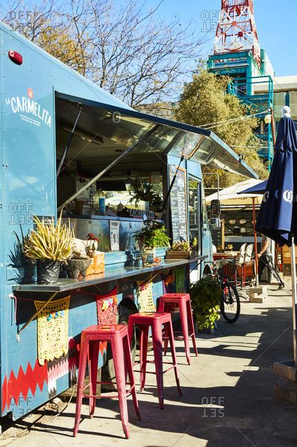 Tijuana, Mexico - November 30, 2016: Food truck in Telefonica Gastro Park