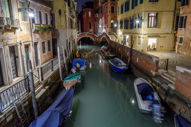 Long  exposure of canal in Venice