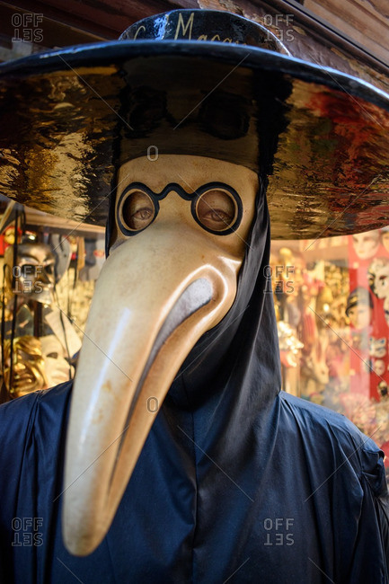 Person in mask in Venice, Italy