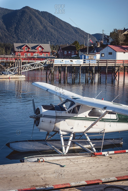 Seaplane at rural dock
