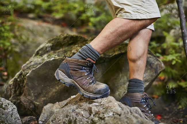 Close-up Of Male Hiker At Appalachian Trail