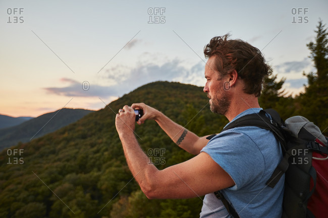 A Man Photographing Along The Appalachian Trail