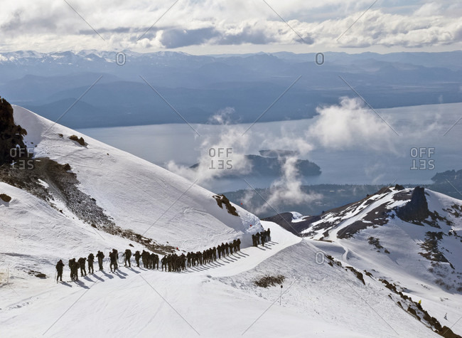 Argentinian Army Members On Mountain Training At Cerro Catedral, Argentina