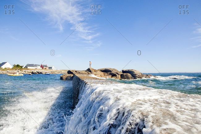 Scenic View Of Ile De Croix In France