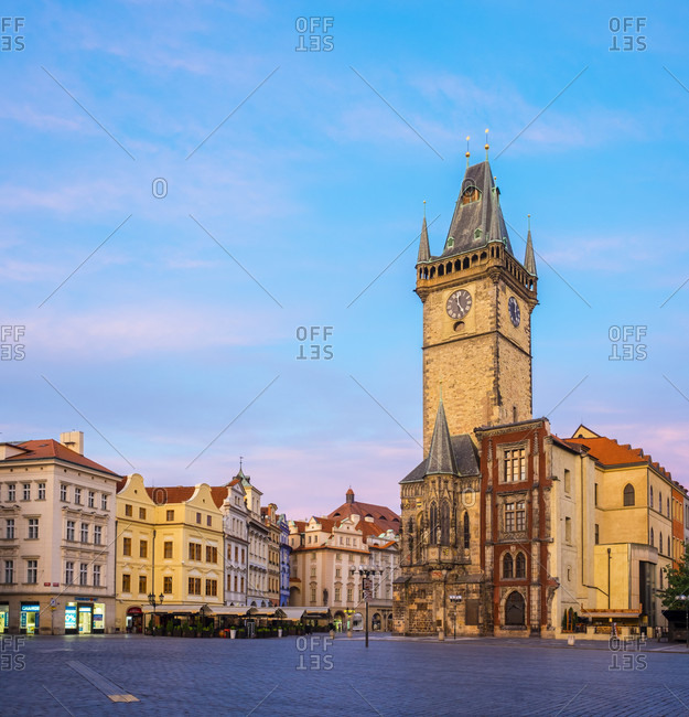 Prague, Prague, Czech Republic - May 23, 2016: Old Town Hall On Staromestske Namesti