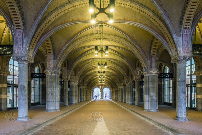 Classical Arches And Columns For Pedestrian And Bicycle Traffic At Rijksmuseum