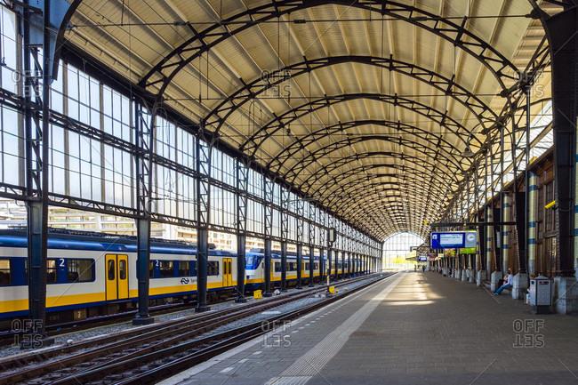 Haarlem, Noord-Holland, Netherlands - May 6, 2016: Interior Of Haarlem Train Station In Haarlem, Netherlands
