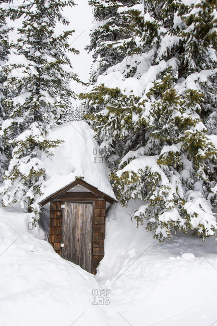 A Buried Out House At Whitefish Mountain Resort In Whitefish, Montana