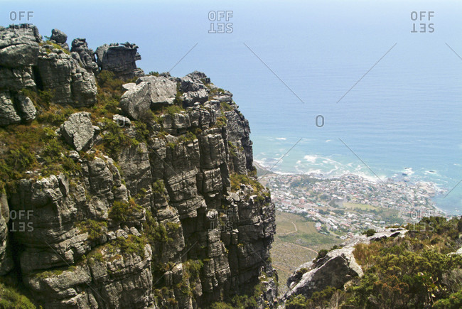 Views From Table Mountain And The Coast Of Cape Town, South Africa