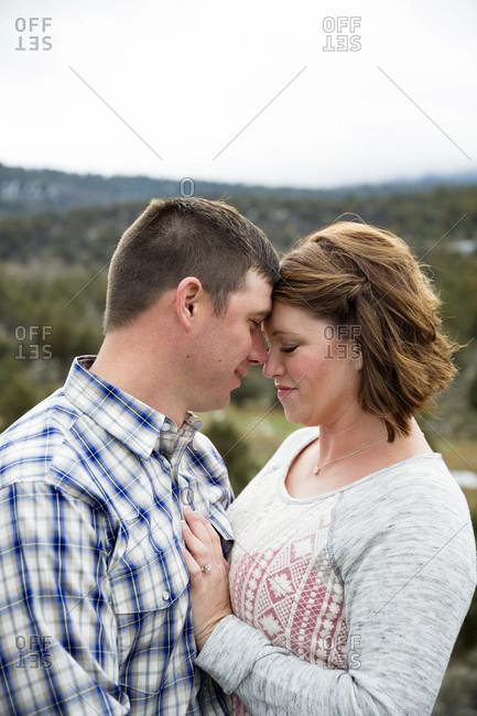 Loving Couple Together on A Private Farm In Klamath Falls, Oregon, Usa