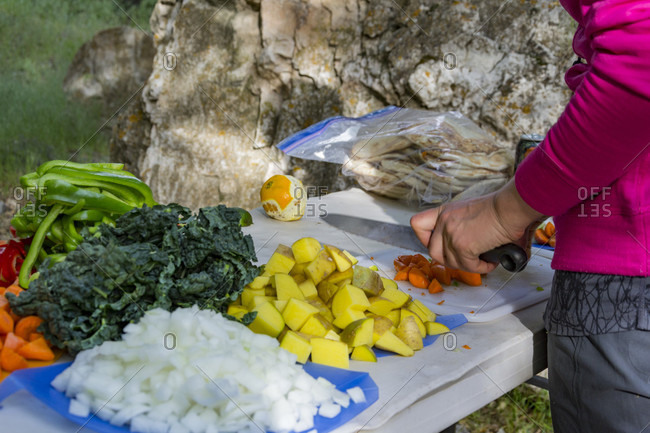 Prepping Dinner On The Yampa River In Dinosaur National Monument