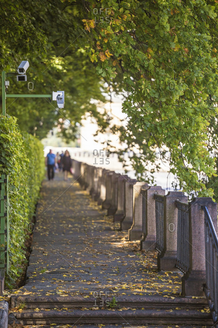 Security Camera In Summer Gardens Park In Saint Petersburg, Russia