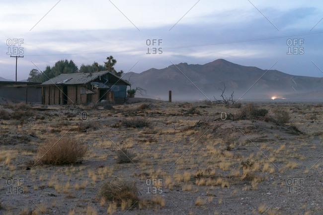 Abandoned building in desert
