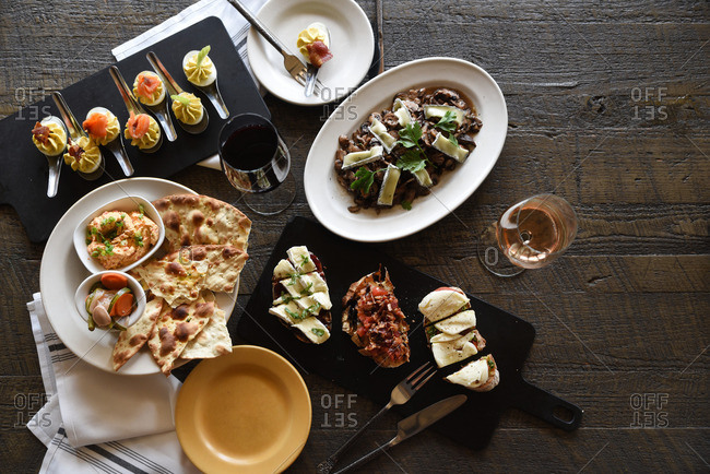 Various appetizers from above