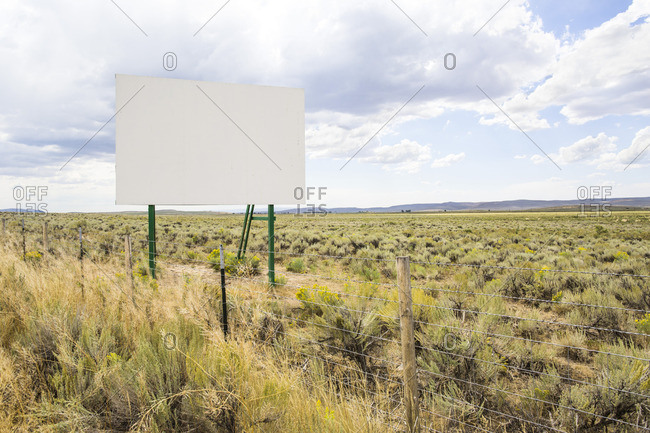Empty billboard by side of the highway, Idaho