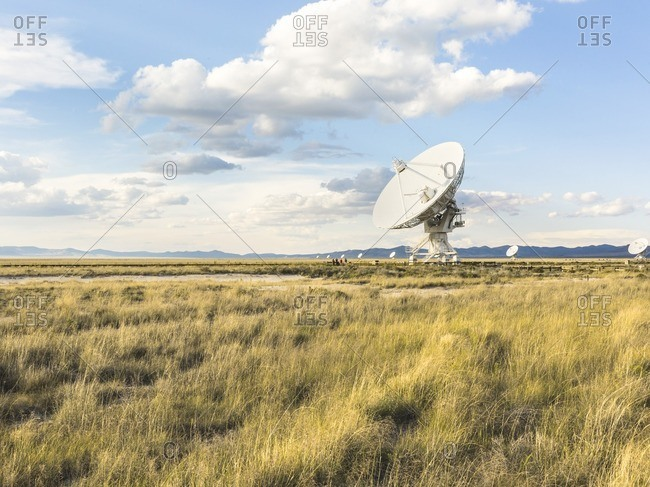People looking at telescope,  Karl G. Jansky Very Large Array, New Mexico