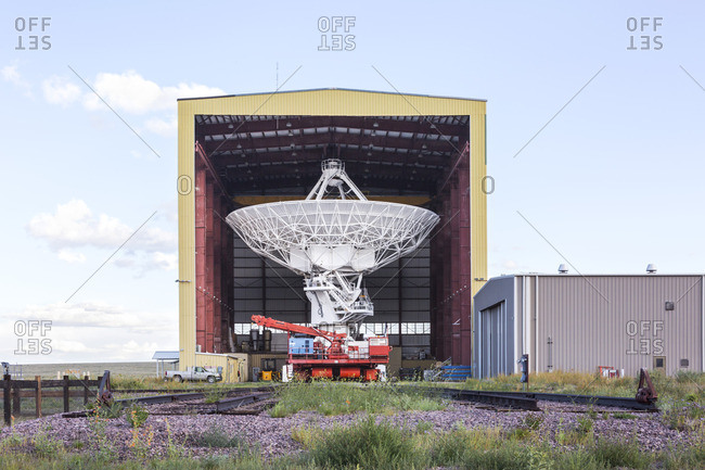 Socorro, New Mexico - August 24, 2016: Antenna Assembly Building, Karl G. Jansky Very Large Array