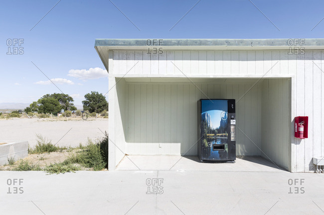 Eastern Nevada, USA - August 28, 2016: Soda machine in middle of nowhere, Great Basin National Park outskirts