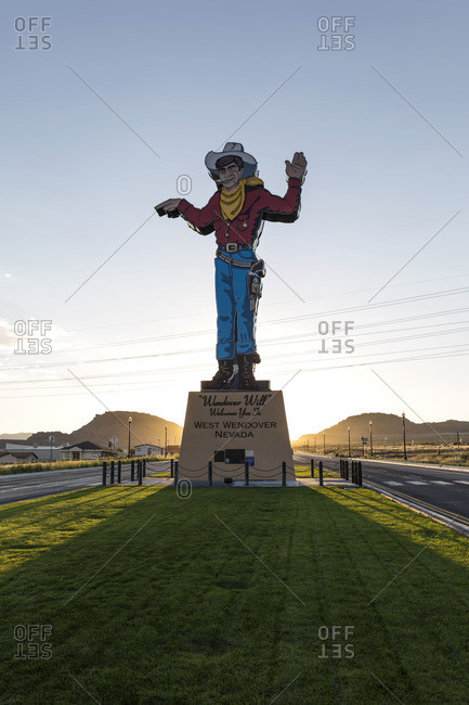 West Wendover, Nevada - August 28, 2016: Wendover Willy neon sign