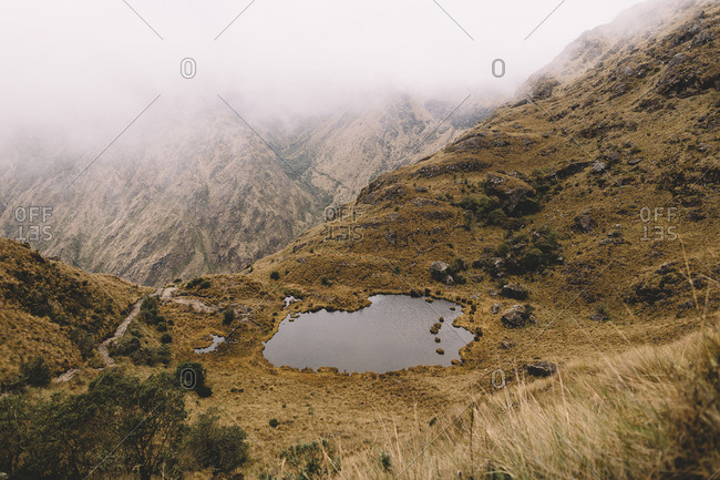 A lagoon in the Andes, Peru