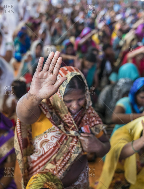Hyderabad, India - July 3, 2016: Minority Christian worshiping in church in India