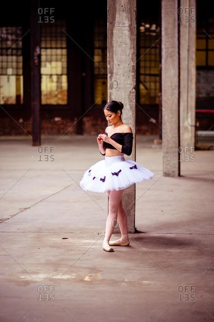 June 27, 2015: Ballerina in industrial space