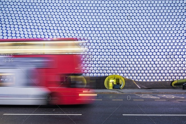 Birmingham, England - July 12, 2014: Bullring Shopping Centre area, detail of the Selfridges Building, architect: Jan Kaplicky and Amanda Levete