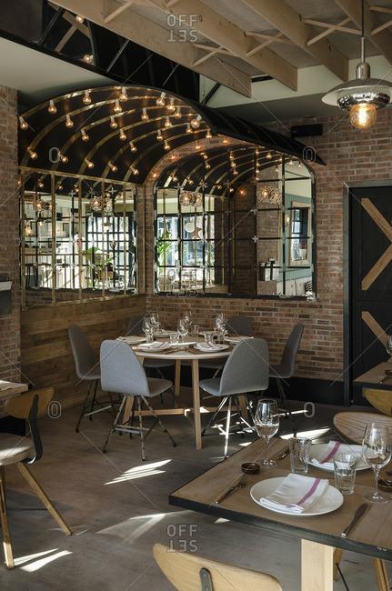 Cozy restaurant in Madrid, Spain