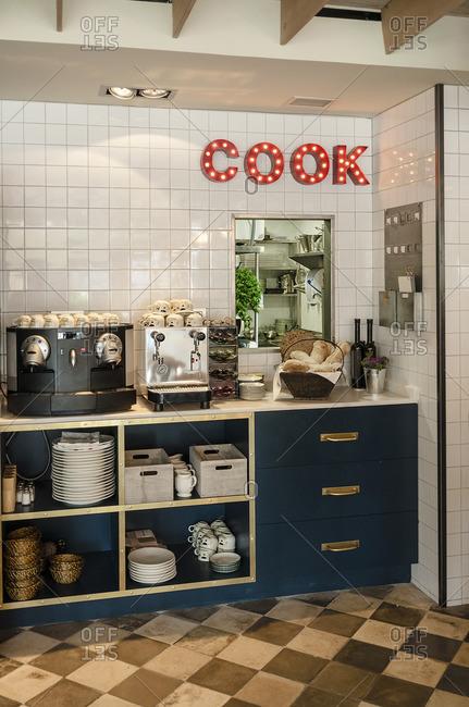 Restaurant cookware furniture in Madrid, Spain