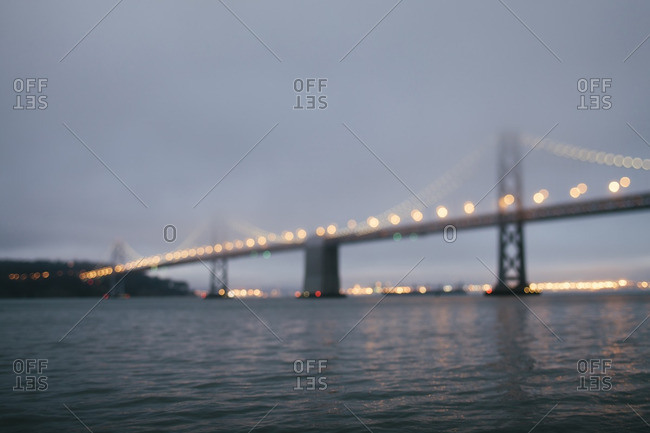 Fog over San Francisco Bay Bridge