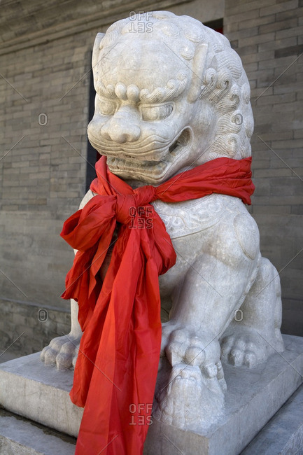 Lion With Red Scarf,Yonghegong Lama Temple, Beijing, China