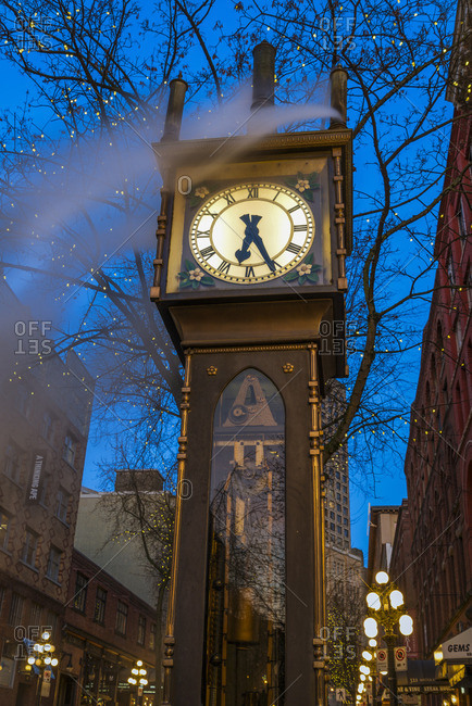 Vancouver, British Columbia - March 4, 2013: The Steam Clock, Gastown