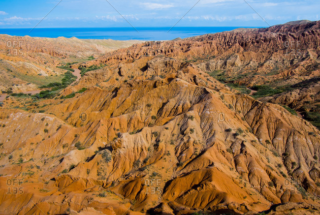 Rocky landscape near ocean
