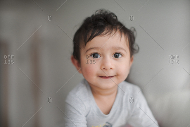 Portrait of smiling Indian baby boy