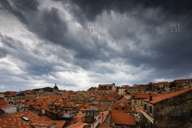 Clouds over cityscape, Dubrovnik, Dalmatia, Croatia