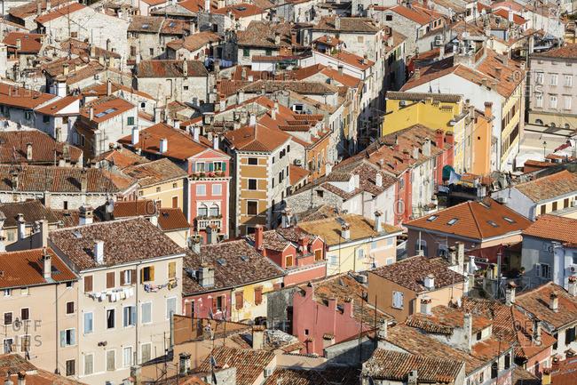 Rooftops of cityscape, Rovinj, Istria, Croatia