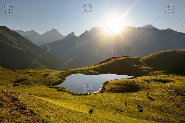Koruldi Lakes, Caucasus, Svaneti, Georgia