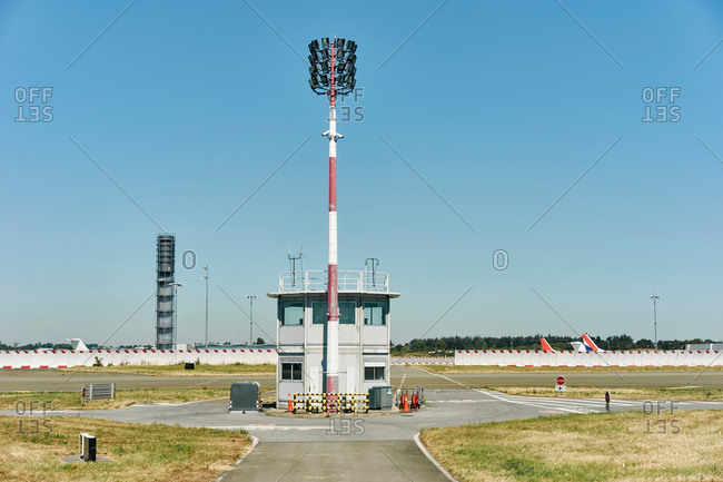 Airport control tower, Charles de Gaulle airport, Paris, France