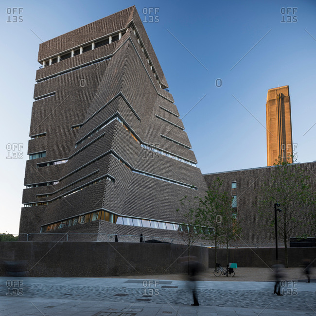 London, UK - October 3, 2016: Exterior view of Switch House, Tate Modern, London, UK
