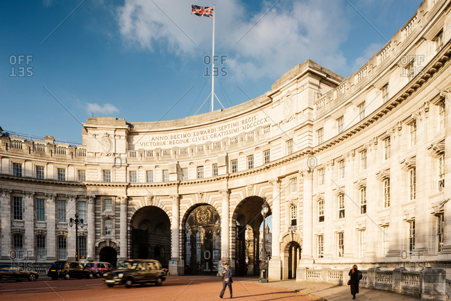 London, UK - October 4, 2016: Admiralty Arch, London, UK