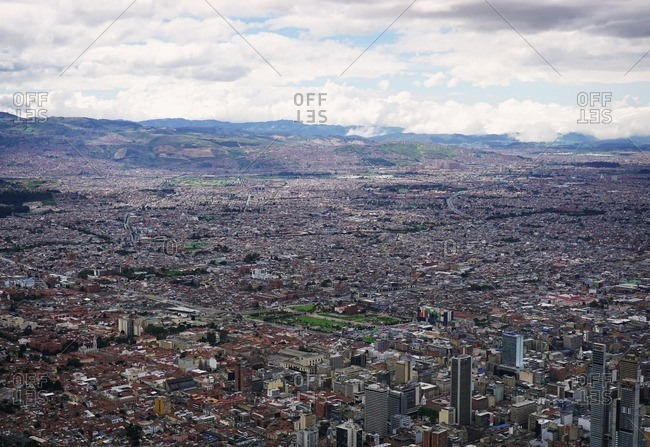 Bogota, Colombia - January 2, 2017: View of Bogota from Monserrate