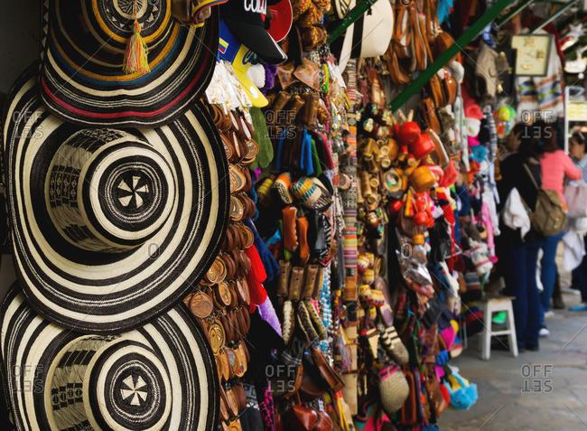 Goods in market in Bogota, Colombia