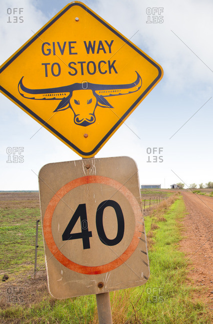 Cattle sign in the Australian Outback