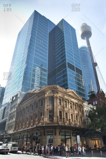 Sydney, Australia - December 11, 2015: View of downtown and Sydney Tower