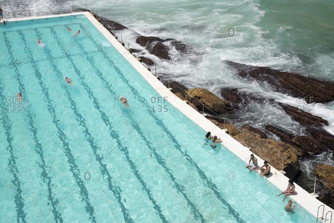 Sydney, Australia - December 11, 2015: Pool on Bondi Beach