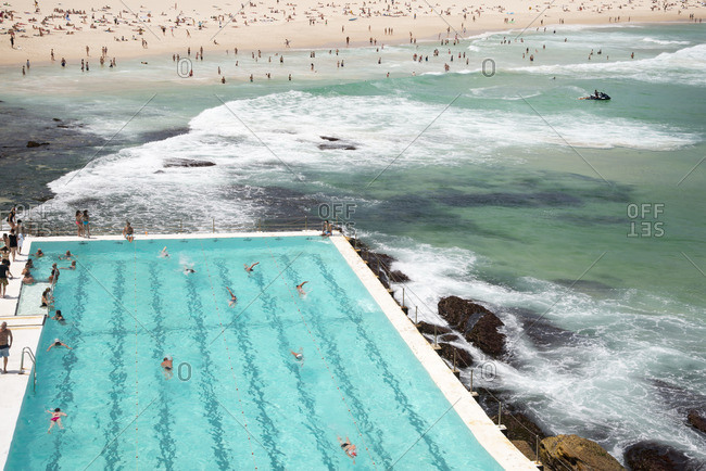Sydney, Australia - December 11, 2015: Pool by Bondi Beach
