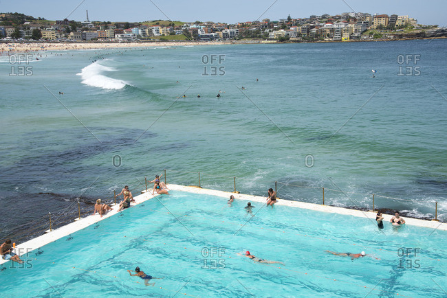 Sydney, Australia - December 11, 2015: Pool at Bondi Beach